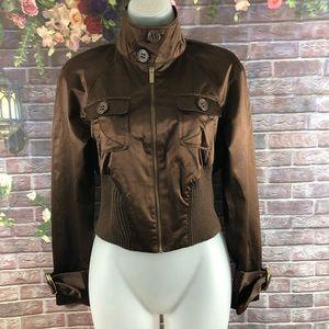 BEBE Women's Crop Tops Jacket Turtleneck Size S